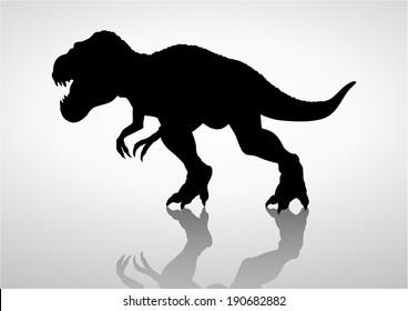 Silhouette illustration of a tyrannosaurus rex