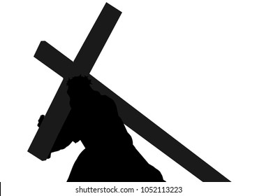 Christ Jesus Silhouette Vector Images, Stock Photos ...
