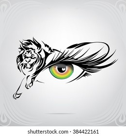 Lion Eyes Images Stock Photos Vectors Shutterstock Nation will rise against nation.there will be great earthquakes, and in one place after another food shortages and pestilences. https www shutterstock com image vector silhouette lion on eye 384422161