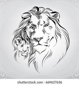 Lion Outline Images Stock Photos Vectors Shutterstock Animal outline drawings lion outline coloring online something. https www shutterstock com image vector silhouette lion young 669637636