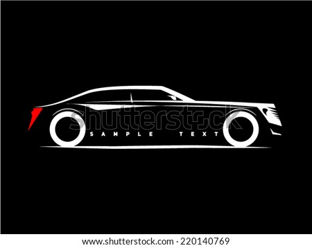 silhouette luxury business car on black のベクター画像素材