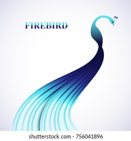 Silhouette of a magical bird Phoenix.Logo,brand company.