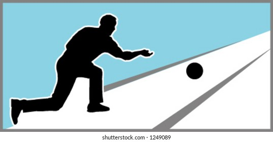 silhouette man bowling stock vector royalty free 1249089