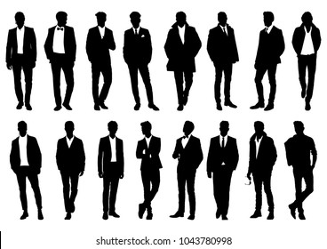 silhouette of a man in a classic suit
