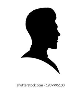 Silhouette of a man in a mohawk hairstyle drawn from the side
