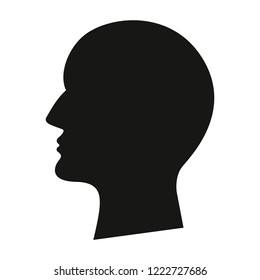 silhouette of a man in profile