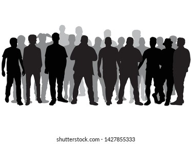 Silhouette of a man. Vector work.