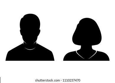 silhouette of man and woman on transparent background