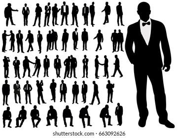 silhouette of man,set