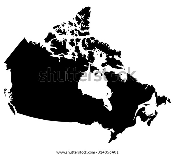 Map Of Canada Silhouette.Silhouette Map Canada North America Stock Vector Royalty Free