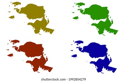 silhouette map of the province of West Papua in Indonesia