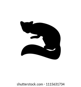 silhouette of marten icon. Element of animals icon for mobile concept and web apps. Detailed silhouette of marten icon can be used for web and mobile on white background