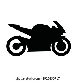 silhouette of motorbike side view vector design