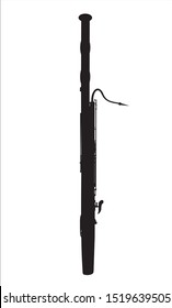 silhouette of a musical instrument bassoon vector illustration