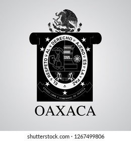 Silhouette of Oaxaca Coat of Arms. Mexican State. Vector illustration