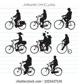 Silhouette Old Cycling
