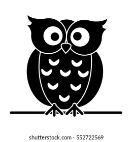 silhouette owl