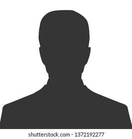 silhouette of people. Unknown male person illustration