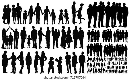 silhouette, people vector