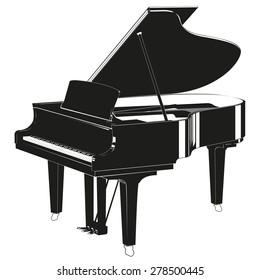 Silhouette piano