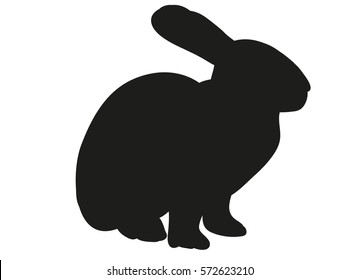silhouette of the rabbit, hare,