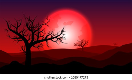 Blood Moon Tree Images Stock Photos Vectors Shutterstock
