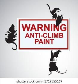 silhouette Rats Street Art Graffity