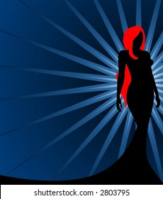 Silhouette of a Redhead