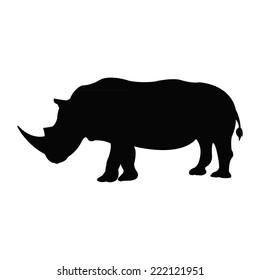 Silhouette of a rhino