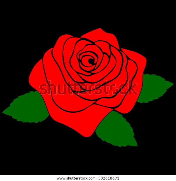 silhouette of a rose in a pattern on a black background