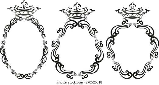 silhouette of royal frames