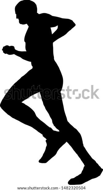 silhouette runner vector illustration stock vector royalty free 1482320504 https www shutterstock com image vector silhouette runner vector illustration 1482320504