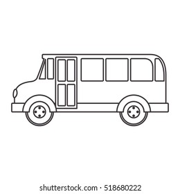 silhouette school bus with wheels