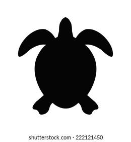 Silhouette of a sea turtle
