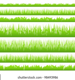Silhouette of seamless grass, vector eps10 illustration