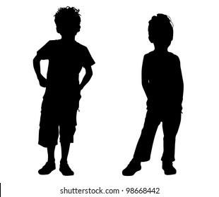 Silhouette small friends