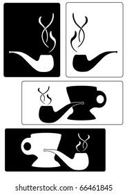 Silhouette Smoking Pipe Tags