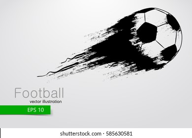 silhouette of a soccer ball. Text and background on a separate layer, color can be changed in one click. Football ball. Vector illustration