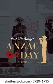 Silhouette of soldier blowing trumpet with soldier standing guard at War Memorial Museum as a background
