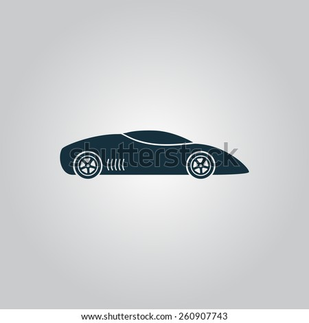Silhouette of sport car