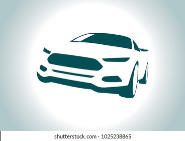 silhouette of sports car