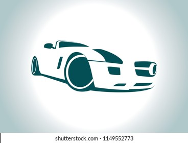 silhouette of a sports convertible