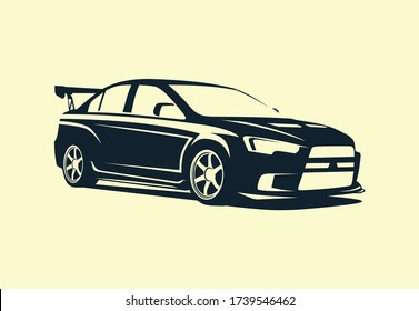 the silhouette of a sports sedan