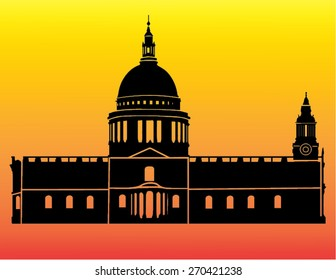 Silhouette of St. Paul's Cathedral, London