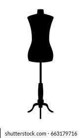 Silhouette of tailors dummy mannequin