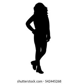 silhouette of teenager girls