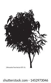 Silhouette Tree, Vector Illustration EPS 10.