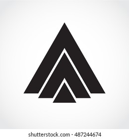 silhouette triangle shape abstract symbol