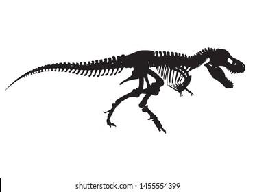 silhouette of Tyrannosaurus Rex vector illustration
