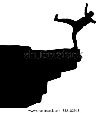 Image result for falling from cliff